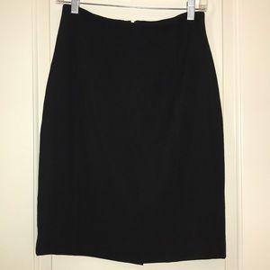 Iris black pencil skirt